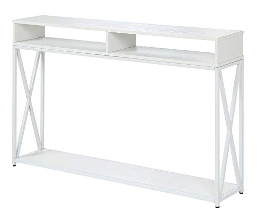 Convenience Concepts 161889WFW Tucson Deluxe 2-Tier Console Table, White (Table Small White Console)