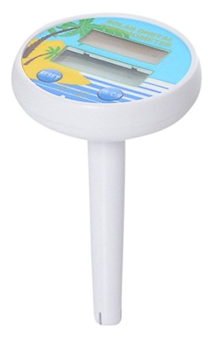 Milliard Outdoor & Indoor Pool and Spa Digital Floating Waterproof Floating Solar Thermometer with Fahrenheit and Celsius Temperature Options (Battery Included). Beach and Palm Summer ()