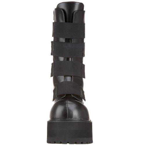 Pleaser Mens Combat 208 Boot Black Polyurethane 4YXBUUPbg