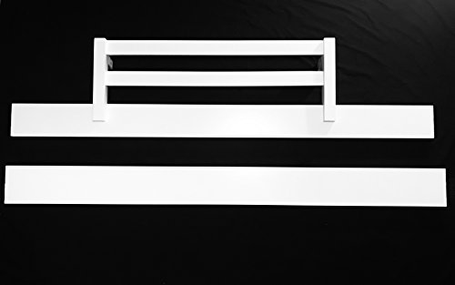Full Size Conversion Kit Bed Rails WITH Safety Toddler Guard Rail for Baby Cache Cribs - White by Crib Conversion Kits