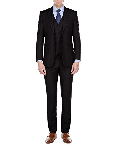 Braveman Mens Slim Fit 3 Piece Suit