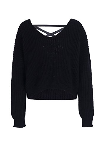 Pullover Simplee Apparel Apparel Simplee Dos Femme 0vnwZCq