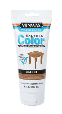 (Minwax 308034444 6 Oz Walnut Water Based Express Color Wiping Stain & Finish)