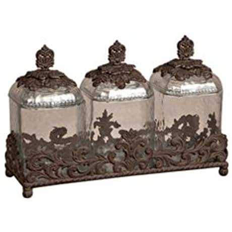 Glass Canisters Burnished Bronze
