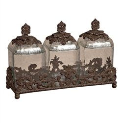Glass Canisters - Burnished Bronze by GG Collection