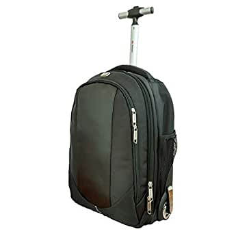 Backpack with Wheels, Freewheel Wheeled Laptop Backpack, High School, College Backpack, Rolling Laptop Bag, Business Backpack, Travel Backpack, Carry-on Bag Backpack Men and Women,18 inches, Black