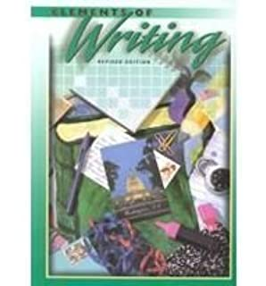 Elements of writing revised edition answers