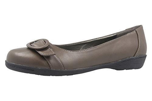 Andres Machado Damen Ballerinas - Braun Schuhe in Übergrößen