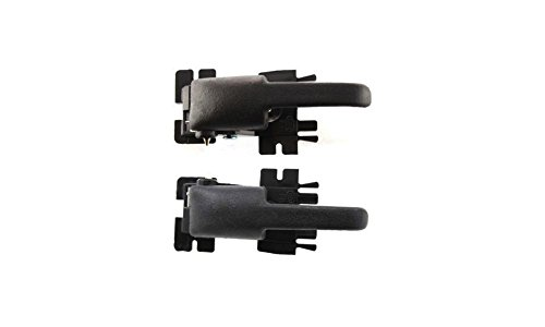 Evan-Fischer EVA18772055018 New Direct Fit Interior Door Handles for EXPLORER 91-03 Set of 2 Front or Rear Left and Right Side Plastic Black W/out door lock button Lever only (Door Handle Ford Explorer 2002 compare prices)