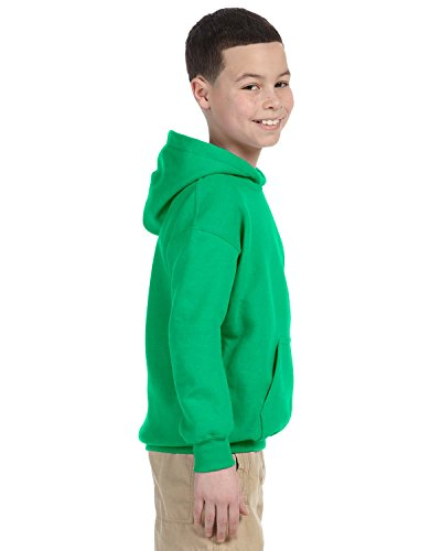 Gildan Youth Heavyweight Blend Hooded Sweatshirt in Irish Green - Large (14/16)
