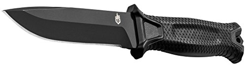 Gerber StrongArm Fixed Blade Knife, Fine Edge, Black [30-001038N]