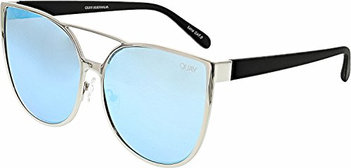 Quay Women's Sorority Princess Sunglasses, Silver/Blue, One - Sorority Sunglasses