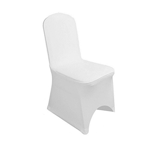 50pcs White Color Spandex Banquet Wedding Party Chair Covers for Wedding Party ()