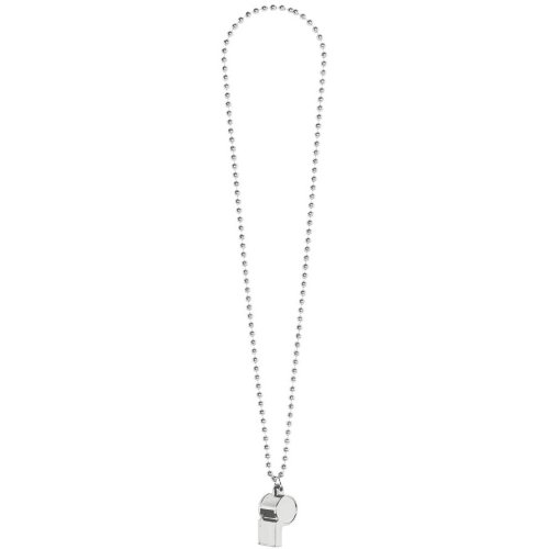Amscan Sports Party Noisemakers Whistle Bead Necklace (1 Piece), Silver, 10.4 x 2.3