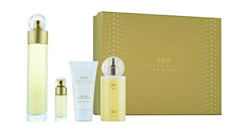 Perry Ellis Fragrances 360 for Women 4-piece Gift Set (Perry Ellis 360 Women Perfume)