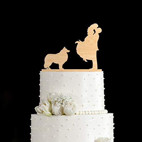Rough Collie cake topper Rough Collie gifts wedding cake topper with dog dog cake topper dog wedding cake topper wedding cake topper dog