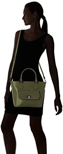 Chicca Borse 8855, Borsa a Spalla Donna, 37x25x17 cm (W x H x L) Verde (Verde)
