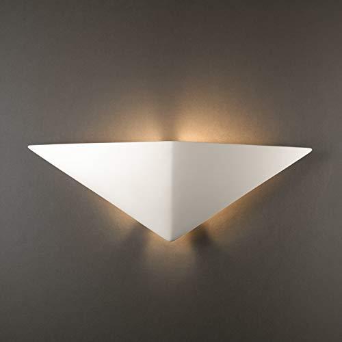 Justice Design Group Triangle Ceramic 1-Light ADA Sconce