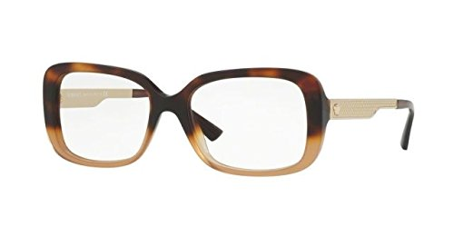 Versace Eyeglasses VE3241 VE/3241 5205 Havana/Gold/Brown Optical Frame - Eyewear Designer