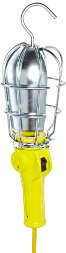 Woodhead 276USB163 Safeway Handlamp, Commercial Duty, Incandescent Bulb, 100W Max Lamp Wattage, Side Outlet, Switch, Quick Open Guard Style, 16/3 SJTOW Cord Type, 50ft Cord Length by Woodhead