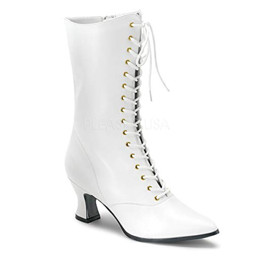 Funtasma by Pleaser Women's Victorian-120 Boot,White,8 M