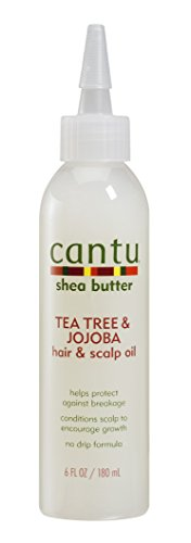 Cantu Shea Butter Tea Tree & Jojoba Hair & Scalp Oil, 6 Fluid Ounce (Shea Butter Hair Oil)