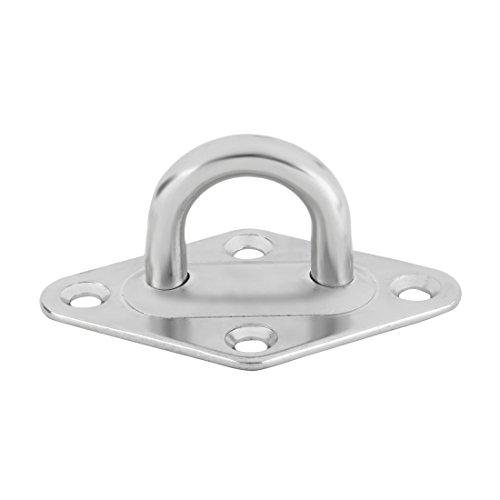 55 Mm Thickness Overall (uxcell 304 Stainless Steel Enclosed Hammock Hanging Ceiling Hook Hanger 100mm x 55mm x 50mm Silver Tone)