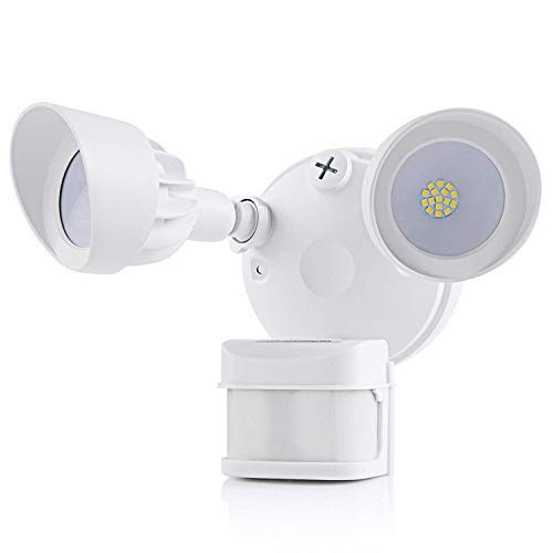DEWENWILS LED Motion Sensor Light, Outdoor Security Floodlight, 270 Degree, Waterproof, High Sensitivity, Adjustable Head Light for Eave, Soffit, Driveway, Garage, Entryways, UL Listed [並行輸入品] B07R9QZ2G3