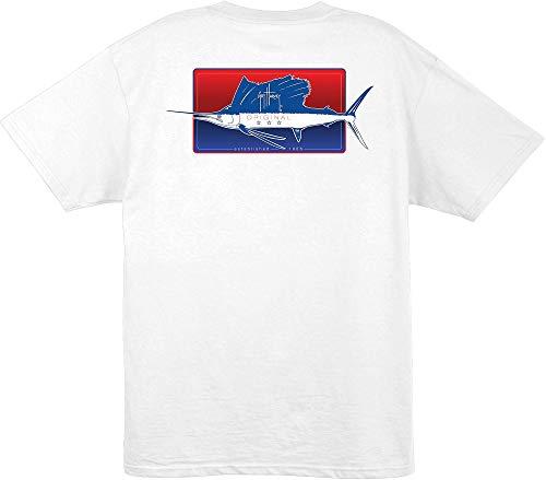 Guy Harvey Half And Half S/S T-Shirt, White, L