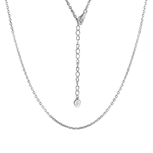 - Solid 925 Sterling Silver Chain for Women Cable Rolo Singapore Chains Nickel-free 1mm-1.5mm Box Chain Necklace, 18-22 Inch (26, A Siver)
