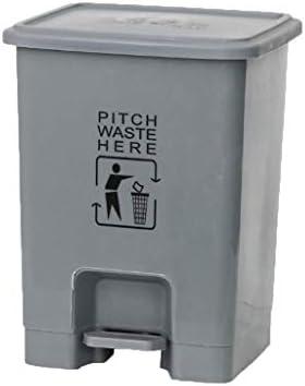 滑らかな表面 ペダルゴミ箱缶、プラスチックフリップごみ箱病院クリニックモールレストランの浴室ソートゴミ箱大容量15L-30L リサイクル可能なデザイン (Color : Gray, Size : 30L)