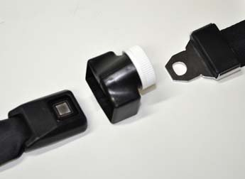 Buckle Guard Pro Car Seat Button Cover Black Deters