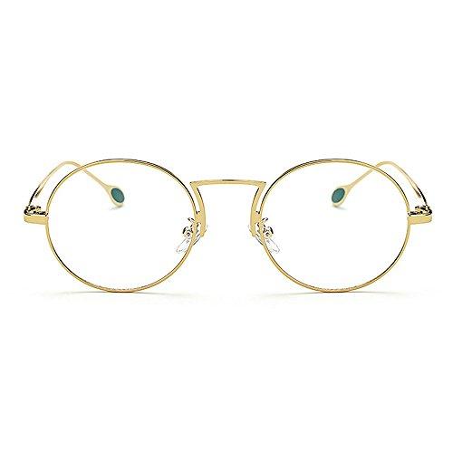 Ray soleil TAC UV ordinateur lunettes soleil lunettes Round Anti Frame Protection de soleil de Simple de Rimmed de Blue Style hommes lunettes Gold unisexes lunettes pour Metal Artistic femmes de lentilles 1acwf4q8w