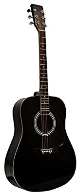 """41"""" Inch Full Size Handcrafted Steel String Dreadnought Guitar & DirectlyCheap(TM) Translucent Blue Medium Guitar Pick (PRO-1 Series)"""