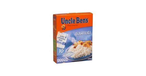 Uncle Ben s hervir en la bolsa Arroz Basmati 500 g: Amazon ...