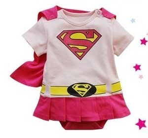 Spiderman Superman Batman Supergirl Baby Toddler All in 1 Fancy Dress Outfit Romper Suits with Cape (70 (0-6month), (Baby Super Hero)