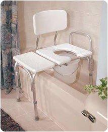 Bath Bench Bariatric Medline (Medline 600 Pound Capacity Commode Transfer Bench)