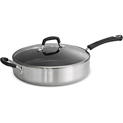 Tramontina Style 5.5-Quart Aluminum Non-stick Polished Covered Saute Pan