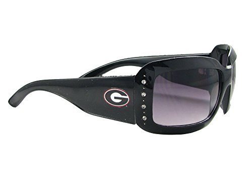 (Sports Accessory Store Georgia Bulldogs UGA Crystal Black NCAA Fashion Sunglasses S4JT)