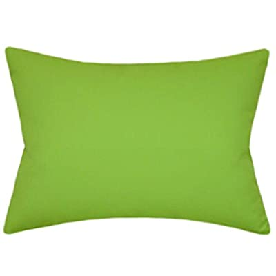 TPO Design Sunbrella Macaw Indoor/Outdoor Solid Patio Pillow 12x18 Rectangle: Home & Kitchen