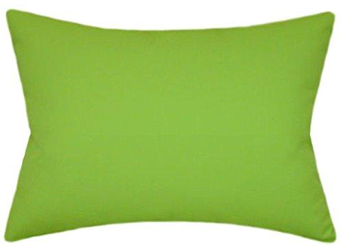 - Sunbrella Macaw Indoor/Outdoor Solid Patio Pillow 12x18 Rectangle