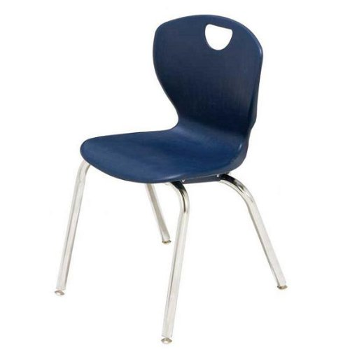 - Scholar Craft SC3118CO Navy Polypropylene Ovation Contemporary Style Poloypropylene Flexible Shell Student Chair, Chrome Frame, 18