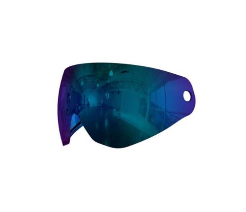 Paintball Mask Lens Blue - HK Army KLR PURE Dual Pane Thermal Lens for Paintball Mask - Mirror Cobalt Blue