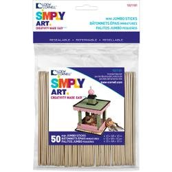(Loew-Cornell Bulk Buy Mini Jumbo Craft Sticks 4.5 inch x .625 inch 50 Pack (6-Pack))