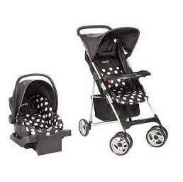 Cosco Car Seat and Stroller Compact Travel System, Retro Dot - Cosco Car Seat Base
