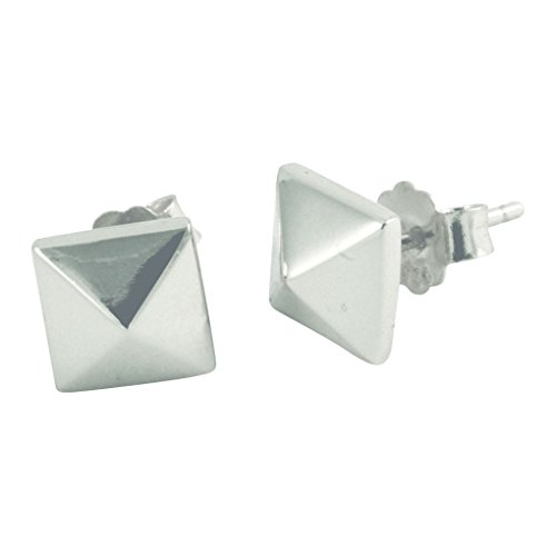 Silver Pyramid Spike (apop nyc Sterling Silver Pyramid Stud Earrings [Jewelry])