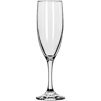 Libbey Embassy 6-Ounce Flute Champagne Glass, Set of 12