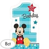 Disney Mickey's'Fun to be One' Postcard Invitations, Birthday