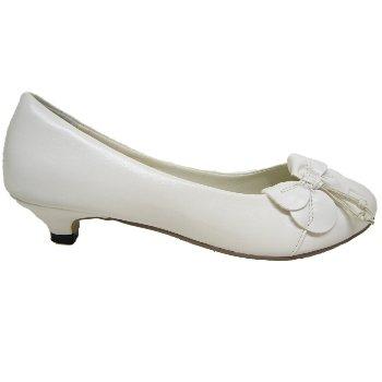 White Kitten Heel