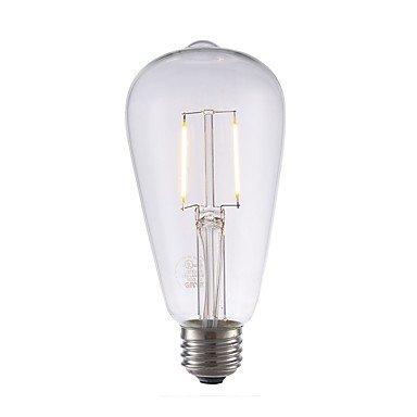 yyhaoge 6pcs 2 W 220 lm E26 LED Bombillas de filamento ST21 2 LED COB bombilla